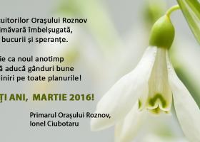 Felicitare primar Ionel Ciubotaru