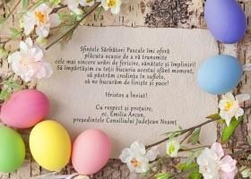 Mesaj de felicitare cu ocazia Sărbătorilor Pascale – Emilia Arcan, președintele Consiliului Județean Neamț