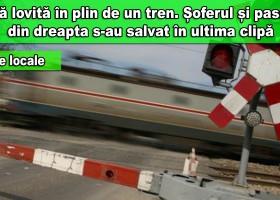 Zănești: O mașină blocată pe calea ferată, spulberată de tren