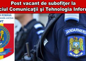 Post vacant de subofiţer la Jandarmeria Neamţ