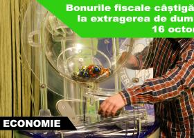 Duminică a avut loc extragerea Loteriei bonurilor fiscale emise în perioada 1-30 septembrie