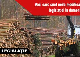 Modificări aduse legislației în domeniul silvic