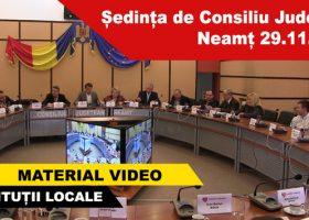 Ședința de Consiliu Județean Neamț 29.11.2016