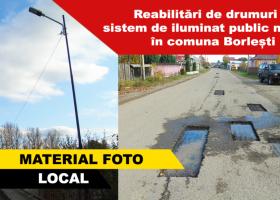Reabilitări de drumuri și sistem de iluminat modern în Borlești