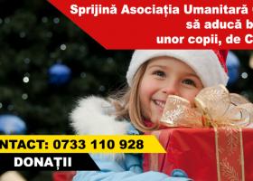 E prilej de fapte bune: Oferă un mic dar de Crăciun copiilor la care Moșul nu poate ajunge
