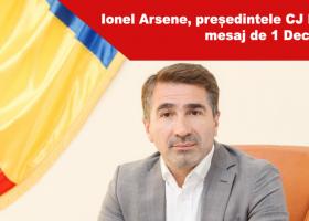 Ionel Arsene, președintele CJ Neamț, mesaj cu ocazia Zilei Naționale a României