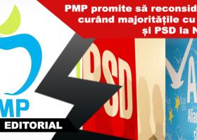 PMP rupe alianța cu PSD la Consiliul Județean și la Consiliul Local și marmota învelea ciocolata