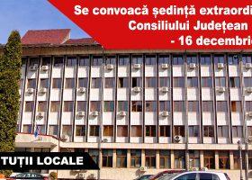Se convoacă ședință extraordinară a Consiliului Județean Neamț  – 16 decembrie 2016