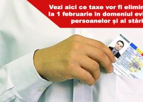 Taxe eliminate de la 1 februarie în domeniul evidenței persoanelor și al stării civile