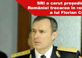 SRI a trimis la Cotroceni decretul de trecere în rezervă a generalului Florian Coldea