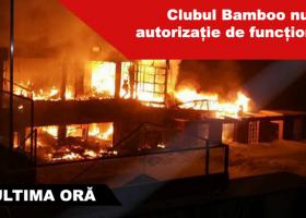 Incendiu de proporții la Clubul Bamboo din Capitală. Clădirea a ars în totalitate