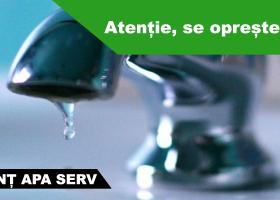 Miercuri, 18 ianuarie, se sistează furnizarea apei pe mai multe străzi din Săvinești