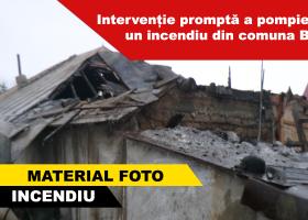 Incendiu la o locuință din comuna Borlești