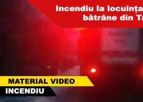 Incendiu la o locuință din comuna Tazlău