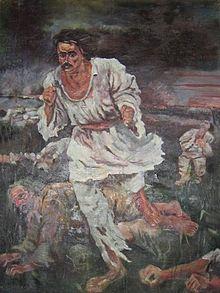 Răscoala, tablou de Octav Băncilă